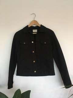 Ganni black denim jacket