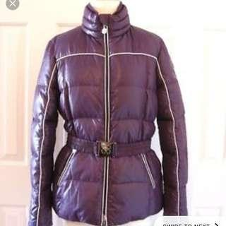 Coach puffer poppy jacket coat medium
