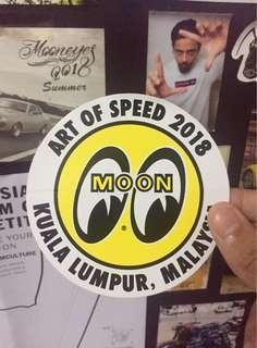 Mooneyes Art Of Speed 2018 sticker