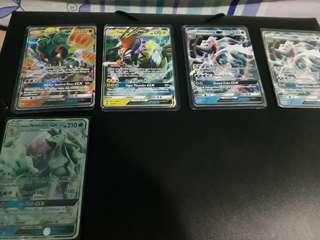 Pokemon cards (various GXs)