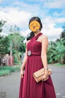 Infinity Dress (rer rose/maroon, light/sky blue) 1pc each color