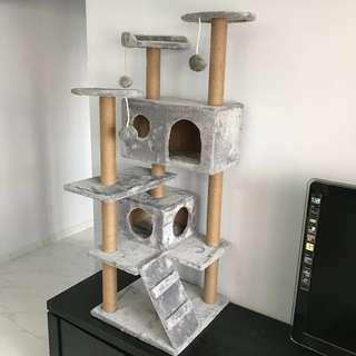 (4 colours available) huge cat condo tree scratch post play toy kitten sisal, not carrier cushion bed