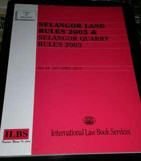 LAWS OF MALAYSIA (SELANGOR LAND RULES)
