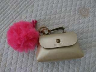 Bavin Mini Bag with Fur Ball Keychain
