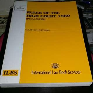 LAWS OF MALAYSIA ( RULES OF THE HIGH COURT)