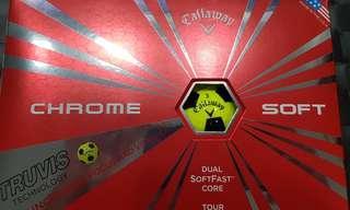 Callaway Chrome Soft 2017 Golf Balls (One Dozen)  Yellow black
