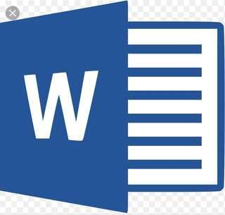 MICROSOFT WORD TYPING JOB