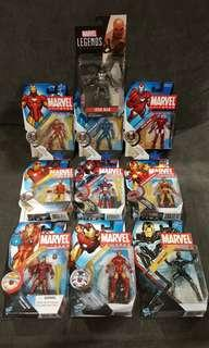 MARVEL UNIVERSE : IRON MAN SERIES (SET OF 10) dc neca spawn shf hot toys
