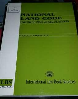 LAWS OF MALAYSIA ( NATIONAL LAND CODE)