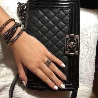 Chanel boy 25cm 復古銀扣