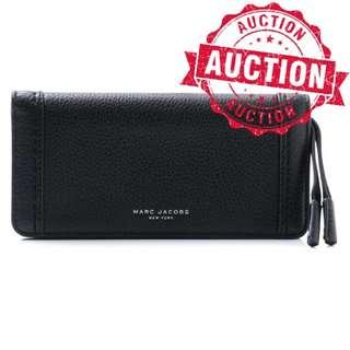 "Auction ""Like"" & ""Bid"" Authentic Brand New Marc Jacobs Women's Maverick Slgs Open Face Wallet Purse Black From USA Suggested Retail: $328"