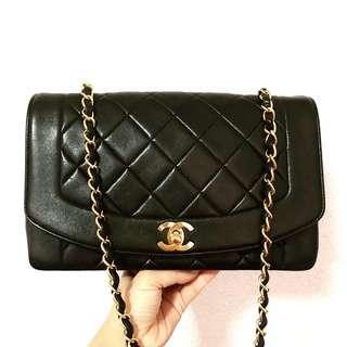 Authentic Chanel Diana Flap with 24k Gold Hardware