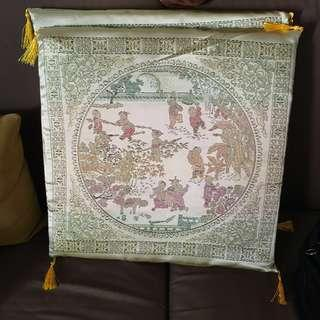 新年結婚百子圖坐墊跪墊x2 wedding chinese kneeling/seat cushions x2