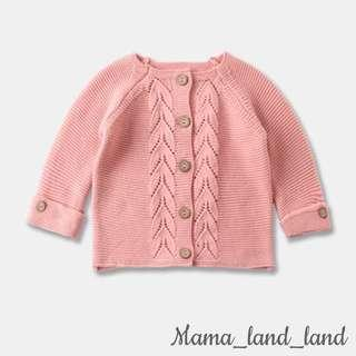 🍁🍃🍂Lovely girlish spring knit cardigan button up baby outerwear