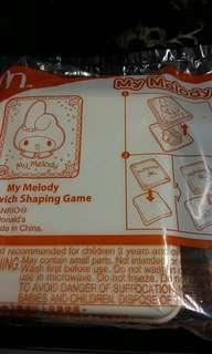 Mcdonalds My Melody Sandwich Shaping Game