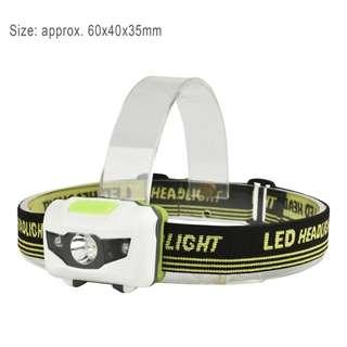 Quality headlamp 3AAA battery bright headlamp. Head torch