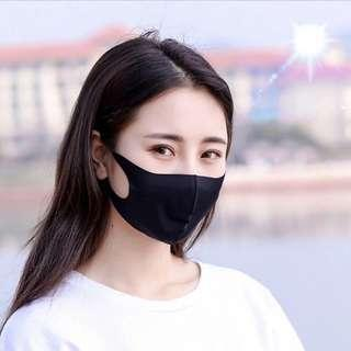 Black mouth Mask anti dust mask Activated carbon filter Windproof Mouth-muffle bacteria proof Flu Face masks Care