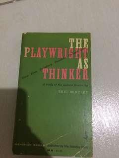 The playwright as thinker
