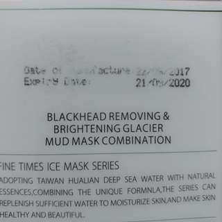 Water come blackhead removing & brightening glacier mud mask combination