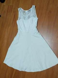 Forever New Cream Lace Dress