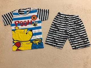 Short Pants and Short Sleeve Winnie The Pooh