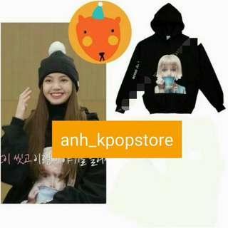 "(PO) Blackpink Lisa ""nah, who cares"" black hoodie | anh apparel"