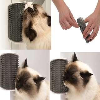Cat corner massage brush - current stock solid black Color free postage