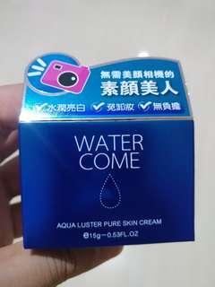 Water come aqua luster pure skin cream