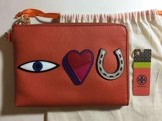 Tory Burch I Love You wallet pouch