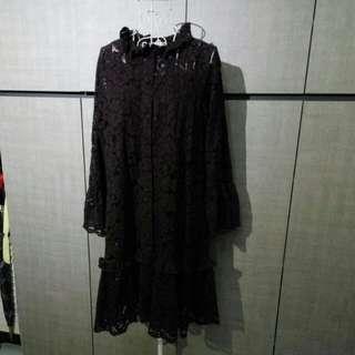H&M plum color lace dress