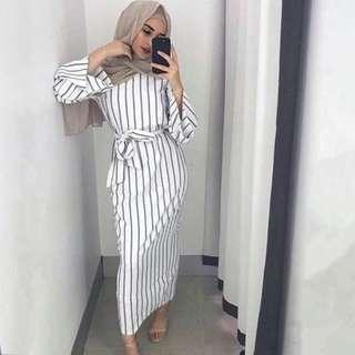 Stripes Abaya dress
