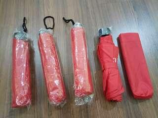 Umbrella red color