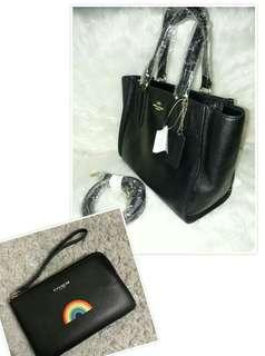 Authentic Coach Crosby Mini and Wristlet