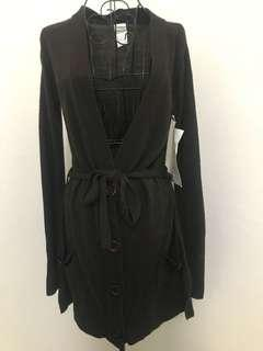 Dark Brown Long Cardigan (brand new with tags) size 12