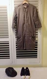 🚚 日本專櫃 ikka 美式復古工人服 連身褲 L