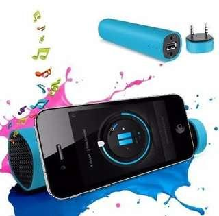 Mobile speakers/stand/powerbank in one