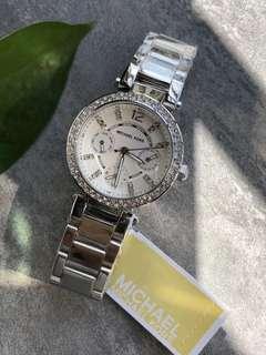 🚚 Michael Kors clock Lady's MICHAEL KORS MK5615 PARKER watch watch silver