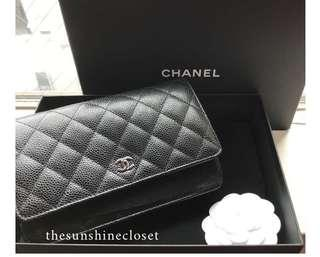Chanel Wallet on Chain (WOC) Caviar with SHW