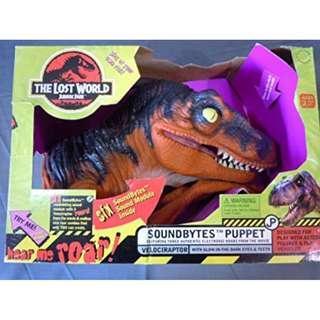 [In hand] Resaurus Jurassic Park The Lost World Soundbytes Puppet - Velociraptor