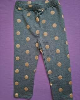 3-4T Legging GAP Abu Gold Polkadot