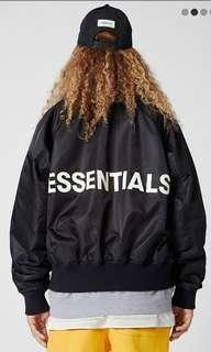 Fear of god essentials bomber jacket size s