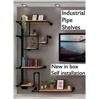 INSTOCK TV / Balcony Shelving Wall - Industrial Pipe