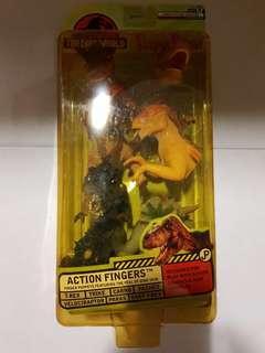 [In hand] Resaurus Jurassic Park The Lost World Action Fingers - Finger Puppet 7-Pack