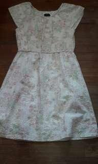 MNA White Floral Knee Length Dress (FOR GIRLS) #MidSep50