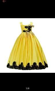 Kids Girl Formal Occasion Bridesmaid Party Event Wedding Flower Dress Gown