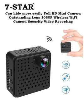 7-STAR* Wireless Hidden Spy IP Portable Camera (Rechargeable Battery/2 Megapixels Full-HD 1080P/Wide-Angle/Hidden IR Night Vision/Audio Recording/Motion Detection/Loop Recording/Build in Hotspot/APP:BVCAM/Multi-User/Multi-View)