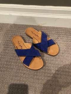 Marielle blue slides sandals