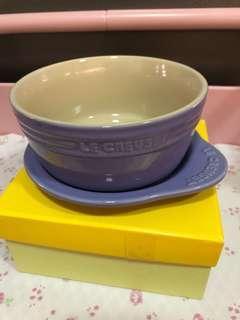 Le Creuset lavender 早餐碗 plate on dish set
