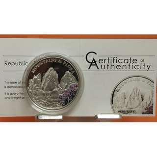 """2012年帛琉共和國(Palau) 山嶽及植物群系列 """"Drei Zinnen""""20克精制彩色銀幣 (附原證)"""