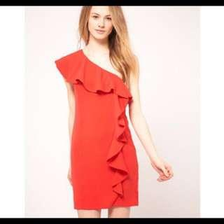 🚚 Warehouse Toga Dress With Ruffles